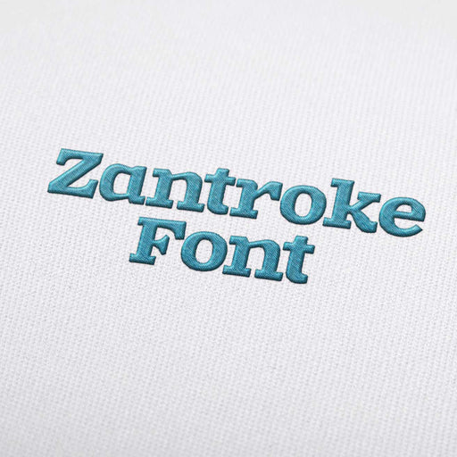 Zatroke - Machine Embroidery Design Fonts Download