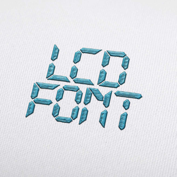 LCD - Machine Embroidery Design Fonts Download