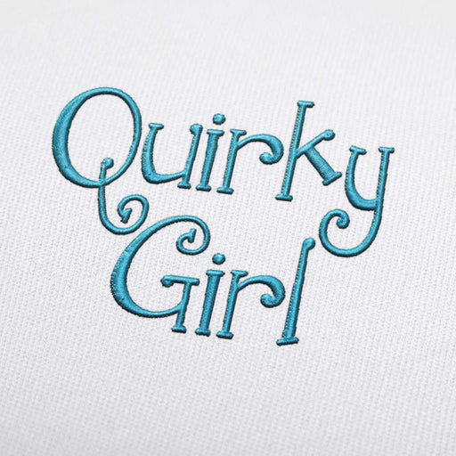 Quirky Girl Font - Machine Embroidery Design Fonts Download