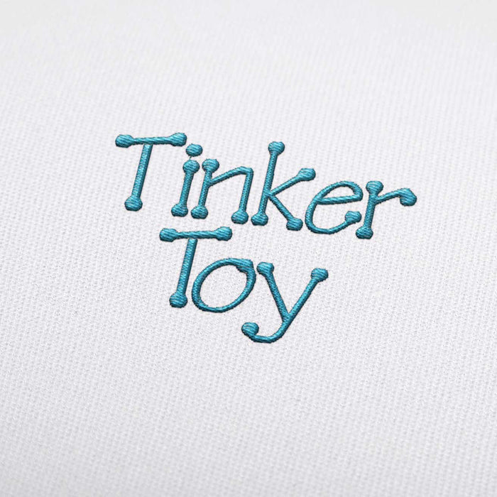 Tinker Toy Embroidery Font Set Download