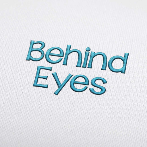 Behind Eyes - Machine Embroidery Design Fonts Download