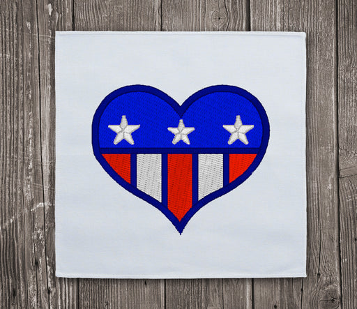 USA Heart - Embroidery design download