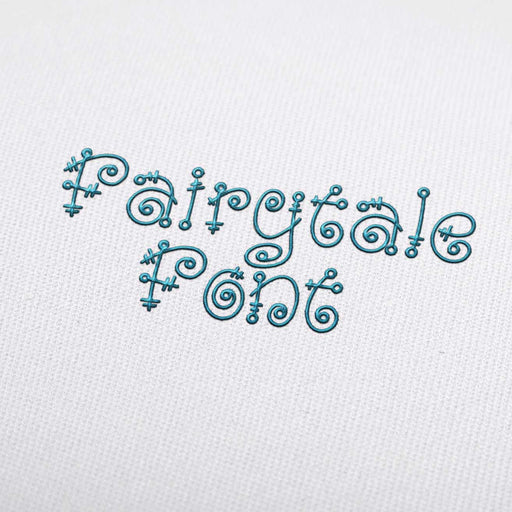 Fairytale - Machine Embroidery Design Fonts Download
