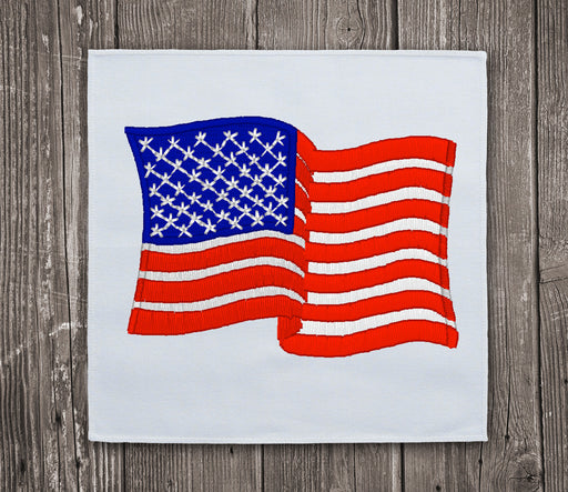 USA Waving Flag 3 Embroidery Design - Instant Download