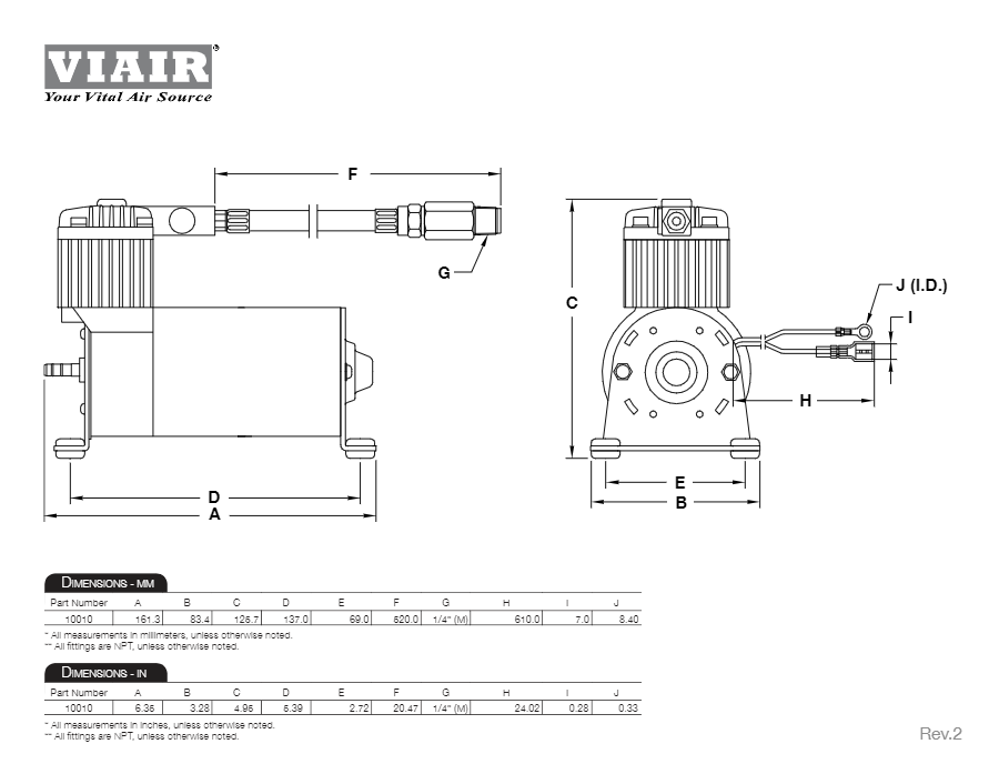 Viair 10010 100C Air Compressor Kit by Viair