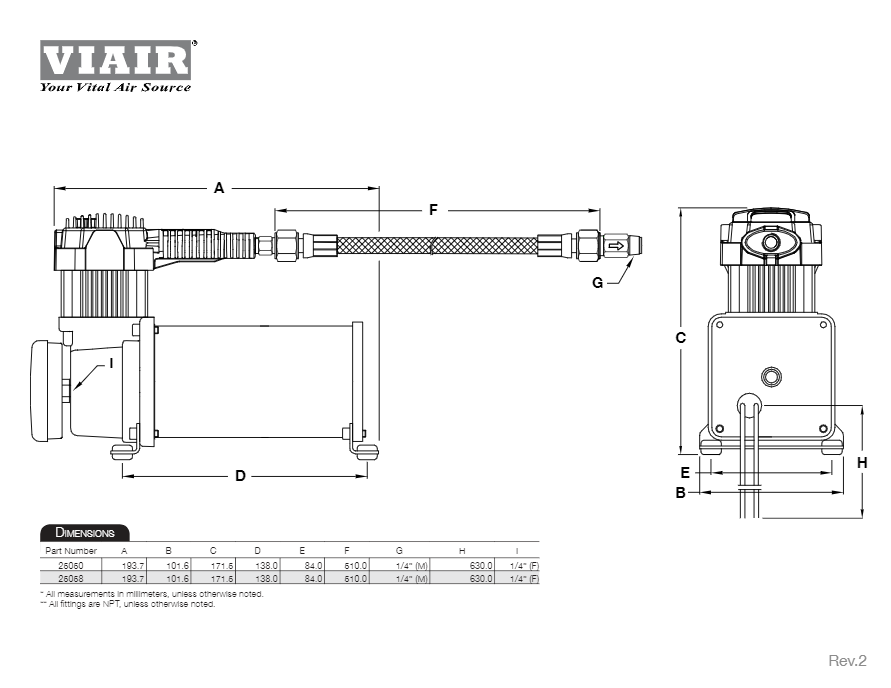 Viair 250c Ig Industrial Air Compressor U2013 Hornblasters