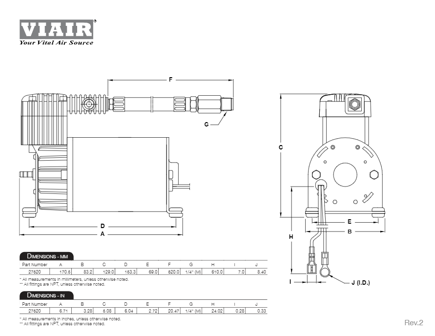 viair compressor wiring diagram viair 275c silver air compressor hornblasters  viair 275c silver air compressor