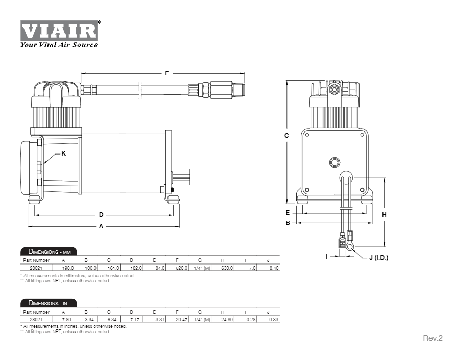 viair 280c silver air compressor Speed Air Compressor Wiring Diagram