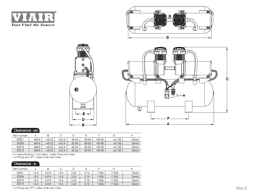 Viair 145 Psi High Speed Bolt On Platform