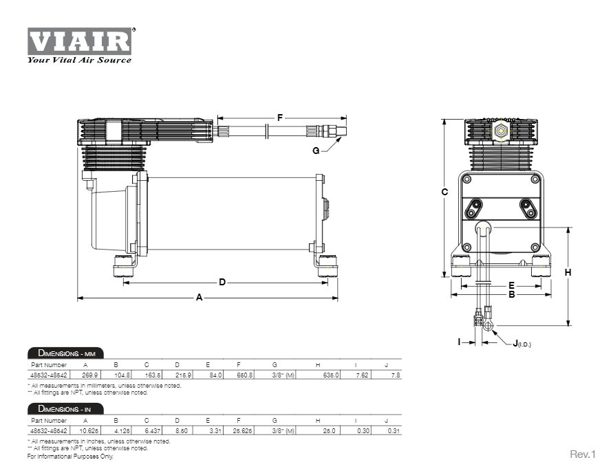 wiring diagram · viair dual 485c onboard air system dimensional drawing