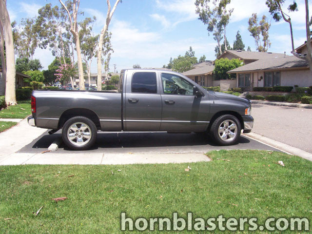 2005 dodge ram 1500 quad cab train horn install hornblasters. Black Bedroom Furniture Sets. Home Design Ideas