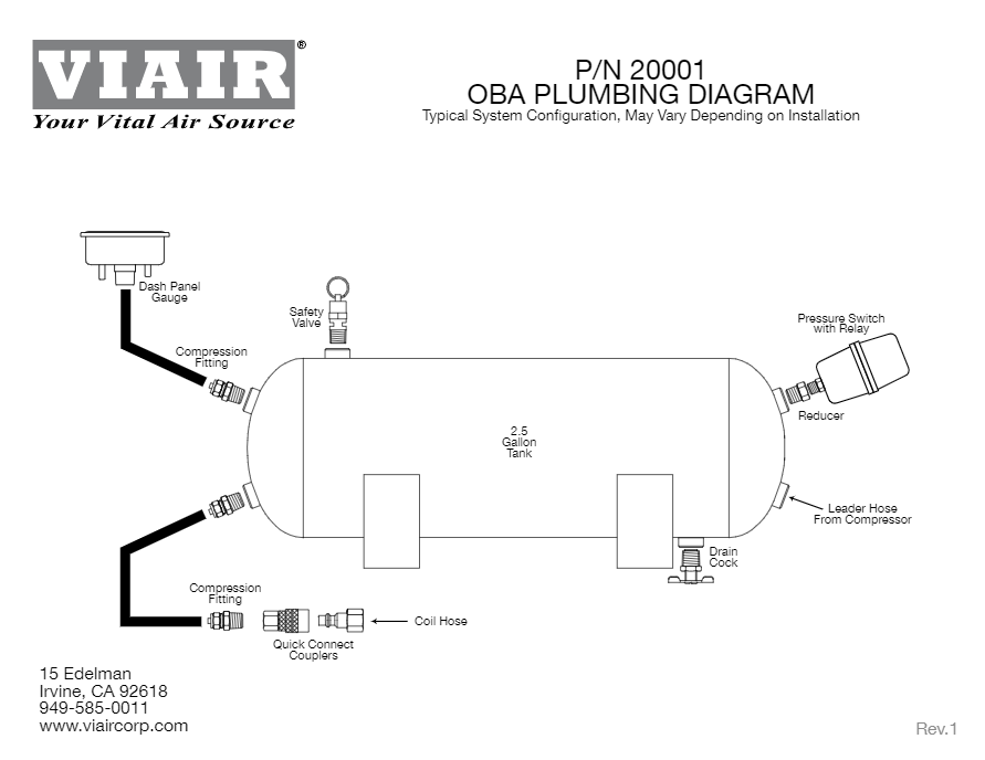 wiring diagram � viair ultra duty onboard air system plumbing diagram