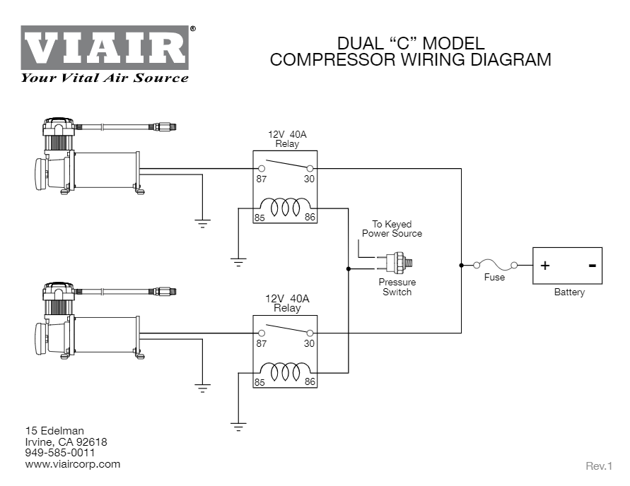 [ZHKZ_3066]  Viair Dual 380C Air Compressor Kit | Viair Air Compressor Wiring Diagram |  | HornBlasters