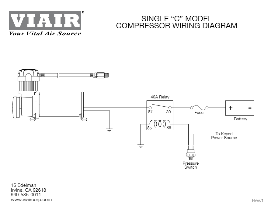 [SCHEMATICS_4ER]  Viair 450C Air Compressor | Viair Air Compressor Wiring Diagram |  | HornBlasters