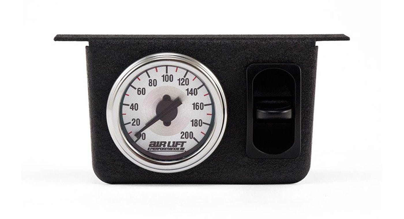 AirRide air Suspension Air Lift Single Needle Gauge Panel With One Paddle Swi...