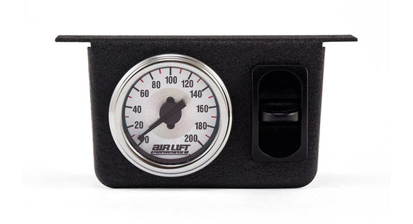 Air Lift 26161 Single Needle Gauge Panel with Paddle Switch - HornBlasters