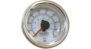 "Viair 220 PSI 2"" Dual Needle White Air Gauge"