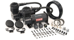 Viair 40048 Dual 400C Stealth Black Air Compressor Kit