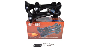 Bullet 228H Nightmare Edition Air Horn Kit