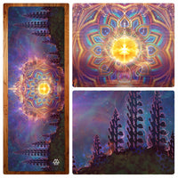 """Return to Source Temple"" Yoga Mat"