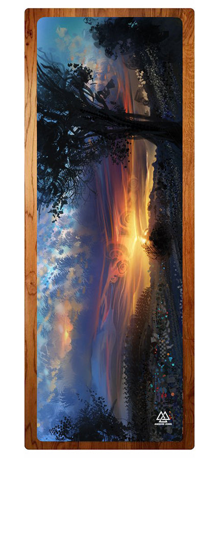 """Rainbow Sunset"" Yoga Mat"
