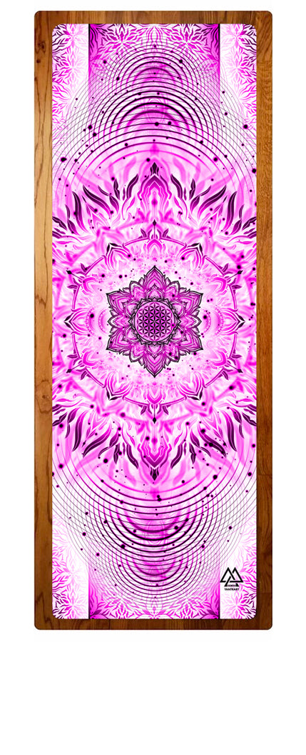 """Pink Aligned Flower"" Yoga Mat"