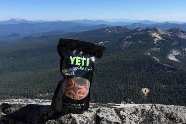 Yeti Snacks flavored pretzels in an Oregon made snack