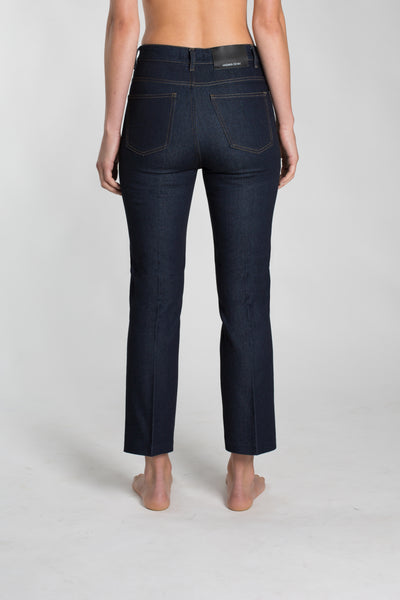 JOSEI TWO  HIGH WAIST CROPPED STRAIT LEG JEANS, DEEP INDIGO