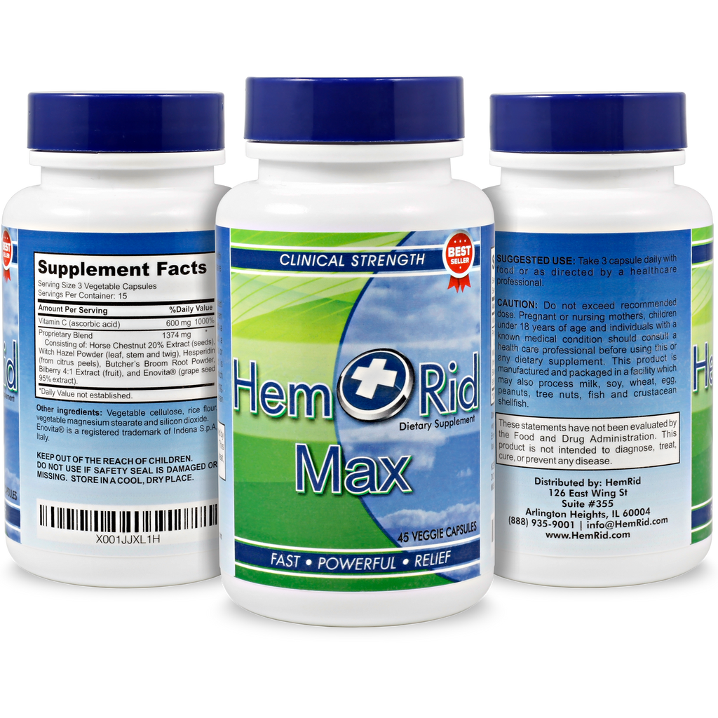 HemRid Max - 5 Bottle Package