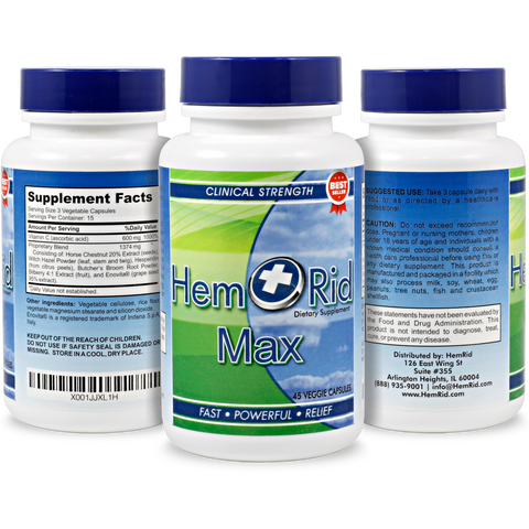 HemRid Max - 3 Bottle Package