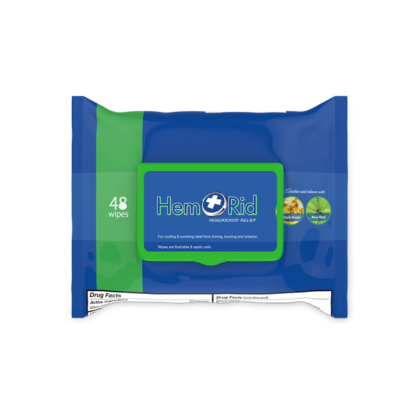 HemRid Hemorrhoid Wipes - For Hemorrhoid Relief