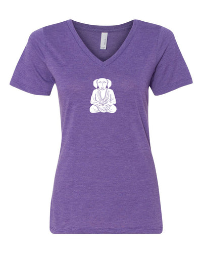 Buddha Women's V-Neck - Triblend