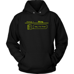 Status: Okay - Digital Console Battery Indicator Hoodie