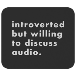 Introverted But Willing To Discuss Audio Mouse Pad