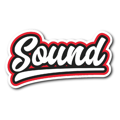 """Sound"" Baseball Style Sticker"