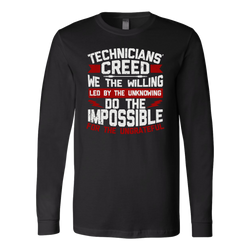 Technicians' Creed Long Sleeve Shirt