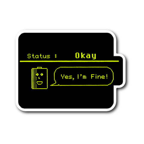 Status: Okay - Digital Console Battery Indicator Sticker