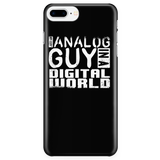 Just An Analog Guy In A Digital World iPhone Android Cell Phone Case