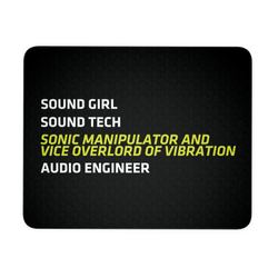 Sonic Manipulator and Vice Overlord of Vibration Mouse Pad (Guy and Girl Versions)