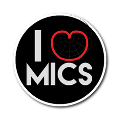 I (Cardioid) Heart Mics Sticker