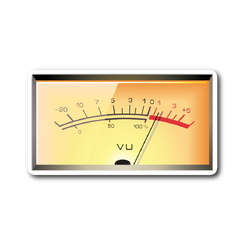 VU Meter Audio Sticker