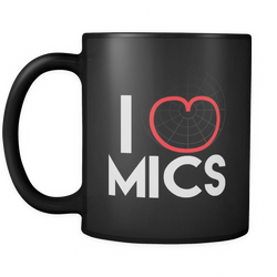 I Love Mics (Cardioid) Coffee Mug