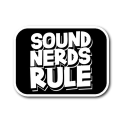 Sound Nerds Rule Sticker