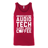 Instant Audio Tech Just Add Coffee Tank Top