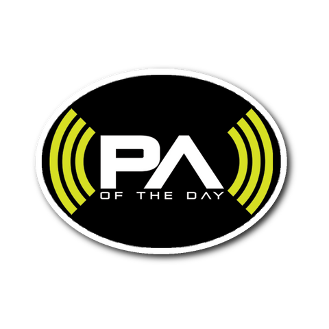 PA of the Day Logo Sticker