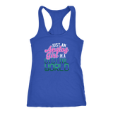 Just An Analog Girl In A Digital World Racerback Tank Top