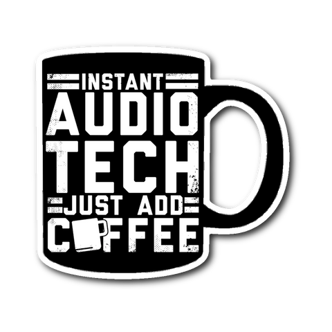Instant Audio Tech Just Add Coffee Sticker