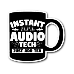 Instant Audio Tech Just Add Tea Sticker