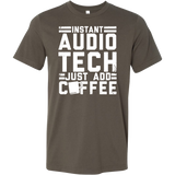 Instant Audio Tech Just Add Coffee Short Sleeve Shirt