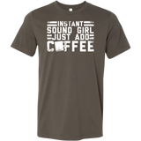 Instant Sound Girl - Just Add Coffee Short Sleeve T-Shirt